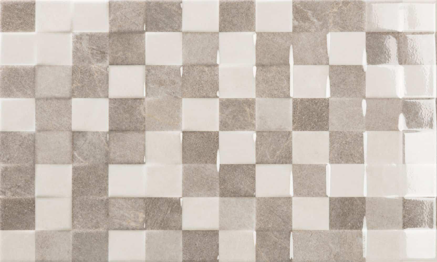 Faianță pentru baie Ecoceramic Origami Reliev Gris 333x550 lucioasă gri / 10