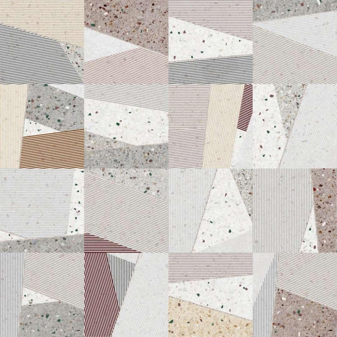 Gresie Opoczno Rovena Pattern Satin 420x420 mată alb, bej, gri / 8