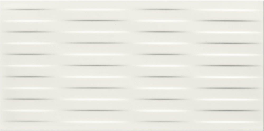 Faianță pentru baie Opoczno Chinese Asters White Satin Braid 297x600 mată alb / 7