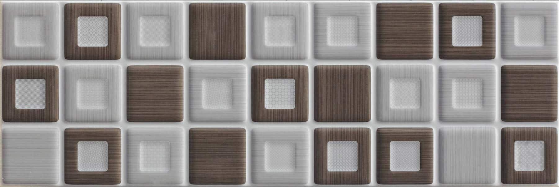Faianță pentru baie Saloni Prisma Mosaico Gris 200x600 lucioasă mixate / 9