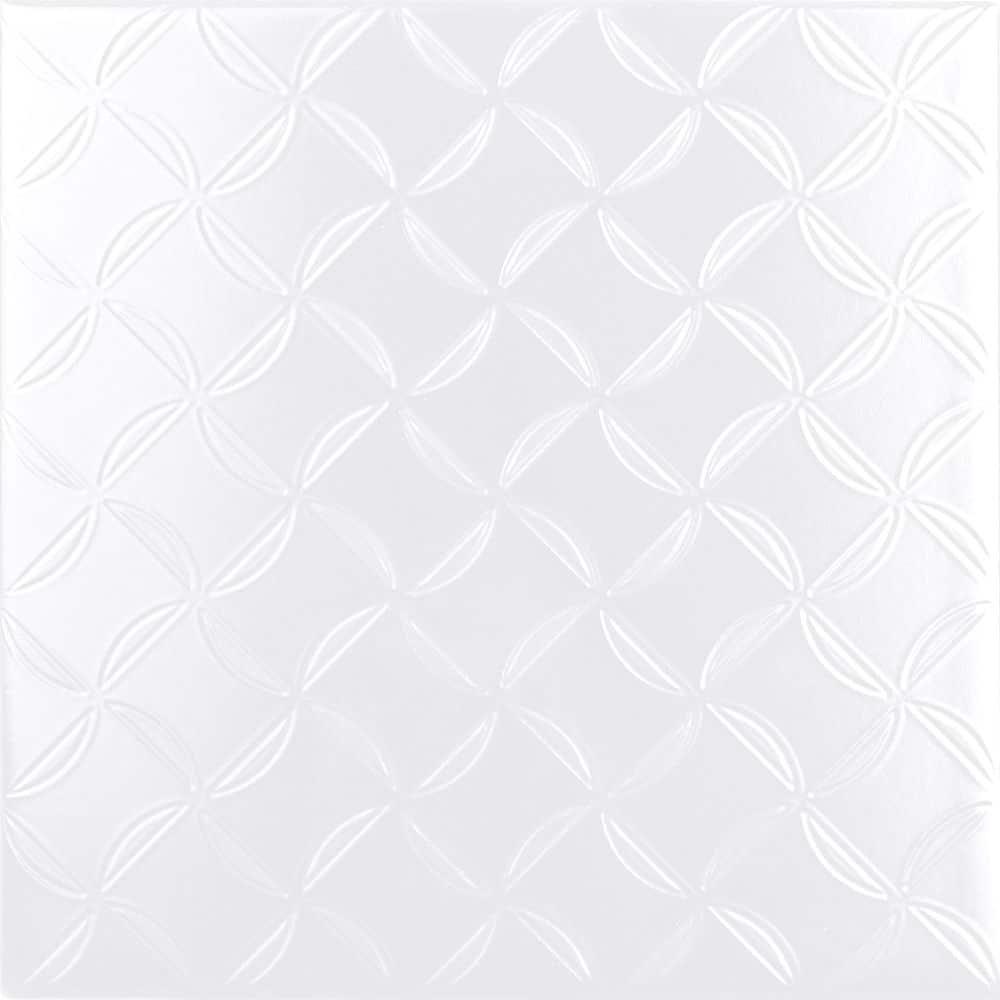 Faianță pentru baie Ceramica Cas Black & White Blanco Decor 200x200 satin alb / 25