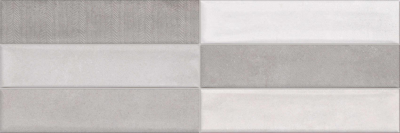 Faianță pentru baie Undefasa Noromadie Breton Brick Gris 250x750 mată gri / 7