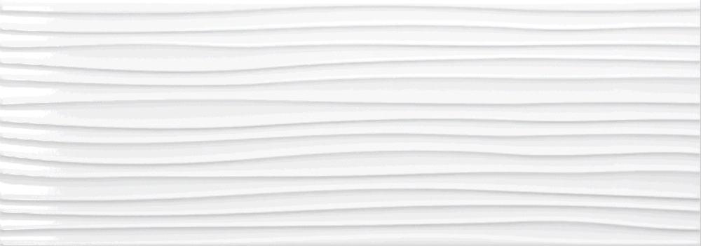 Faianță pentru baie Pamesa Atrium Blanco Relief Dune Brillo 250x700 texturată și lucioasă alb / 9