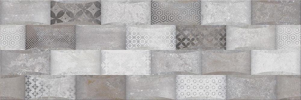 Faianță pentru baie Opoczno Mystery Land Structure 200x600 texturată și mată gri / 9