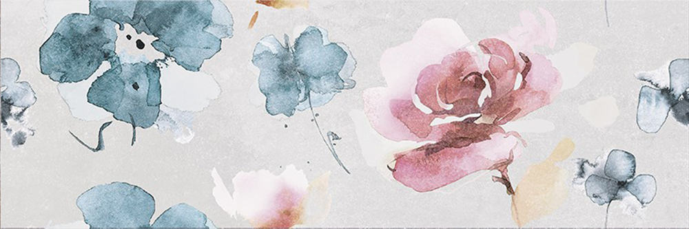 Faianță pentru baie Opoczno Mystery Land Decor Flower 200x600 mată gri / 9