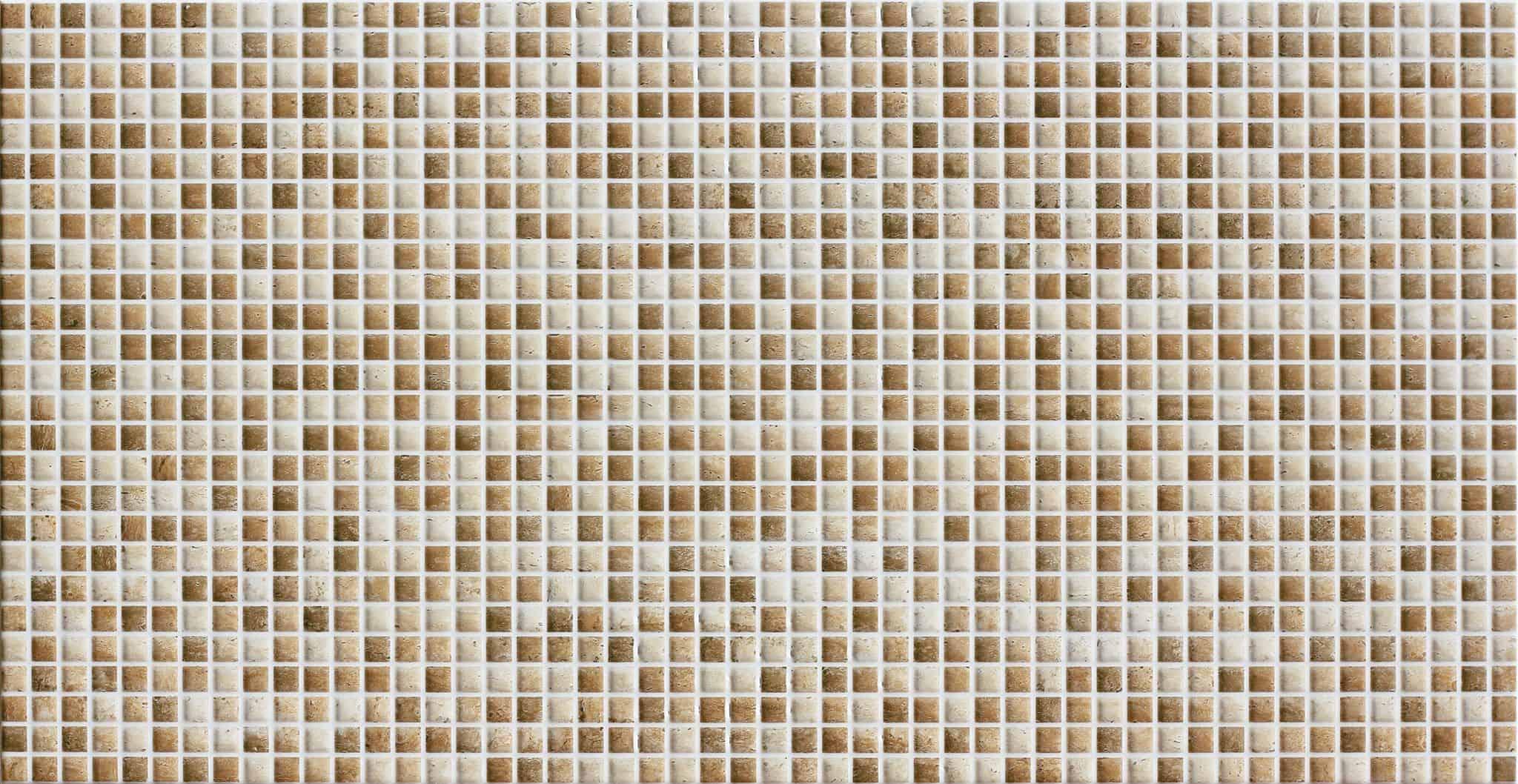 Faianță pentru baie Saloni Tivoli Mosaico Crema Brillo 310x600 texturată și lucioasă bej / 5