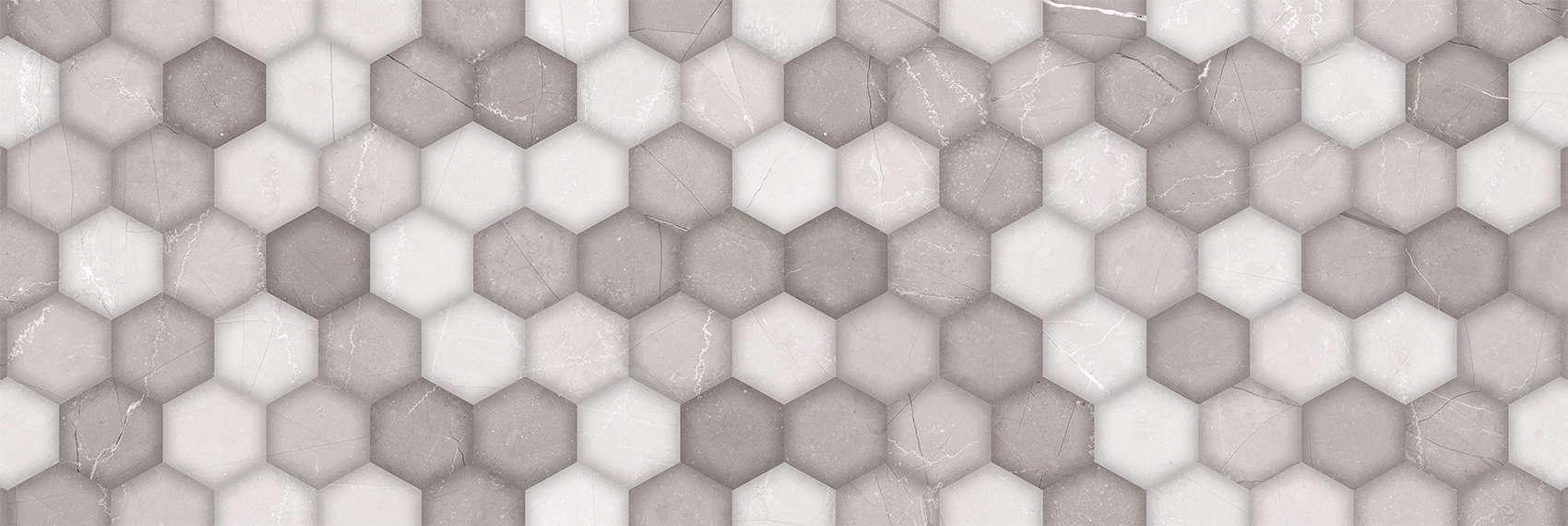 Faianță pentru baie Navarti Brisbane Relief Perla 300x900 texturată și lucioasă gri / 4