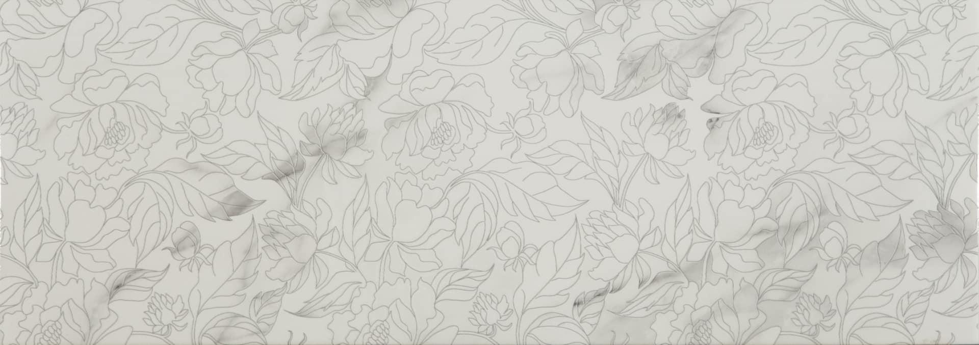 Faianță pentru baie Ecoceramic Venezia Calacatta Garden Calacata 250x700 texturată și lucioasă alb / 9