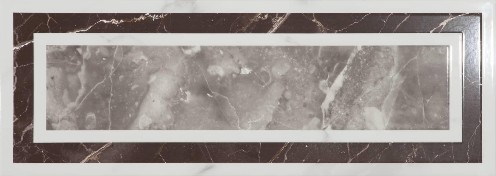 Faianță pentru baie Ecoceramic Venezia Calacatta Versales Calacata 250x700 texturată și lucioasă alb / 9