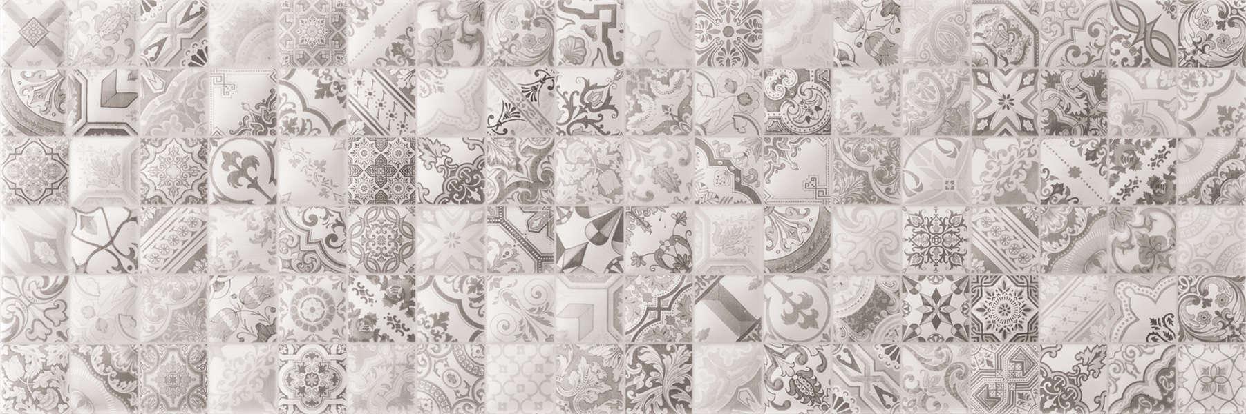 Faianță pentru baie Navarti Privilege Gris Decor 200x600 texturată și mată gri / 9
