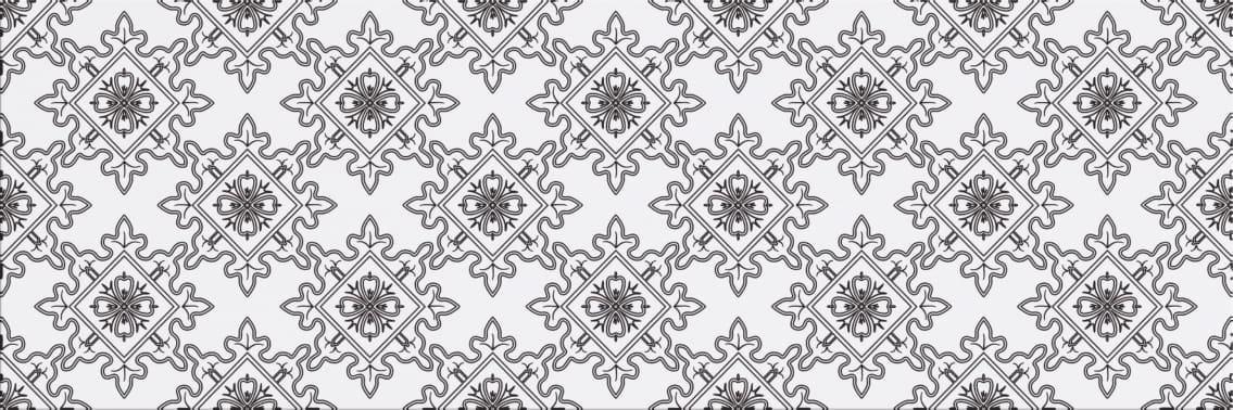 Faianță pentru baie Cersanit Black&White Pattern E 200x600 mată mixate / 9