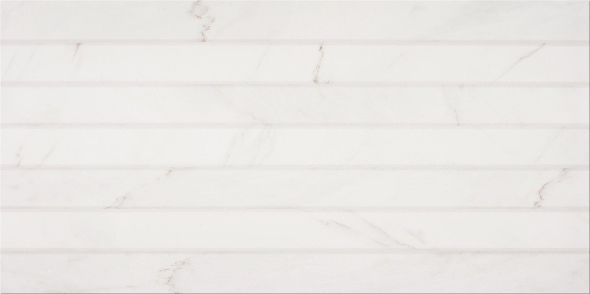 Faianță pentru baie Opoczno Calacatta Structure 297x600 texturată și mată alb / 7