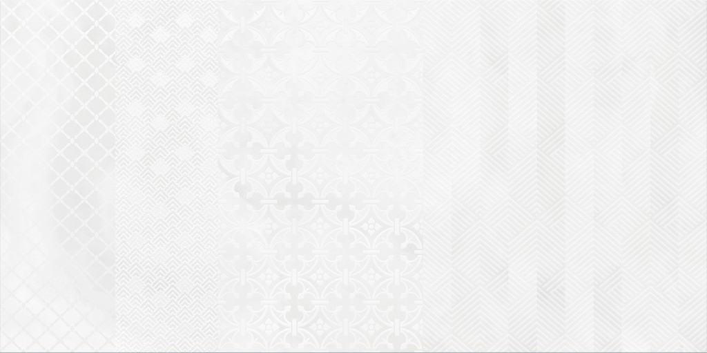 Faianță pentru baie Opoczno Carly Decor Patchwork 297x600 lucioasă alb / 6