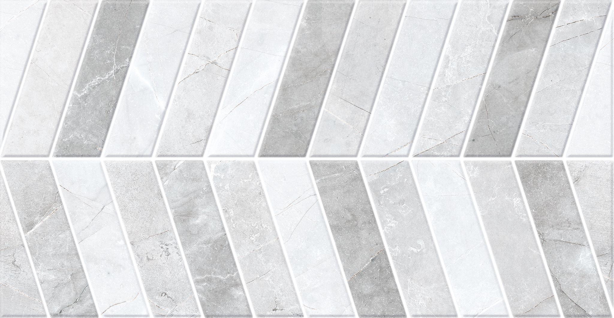 Faianță pentru baie Saloni Sonata Alegro Iris 310x600 texturată și lucioasă gri / 5