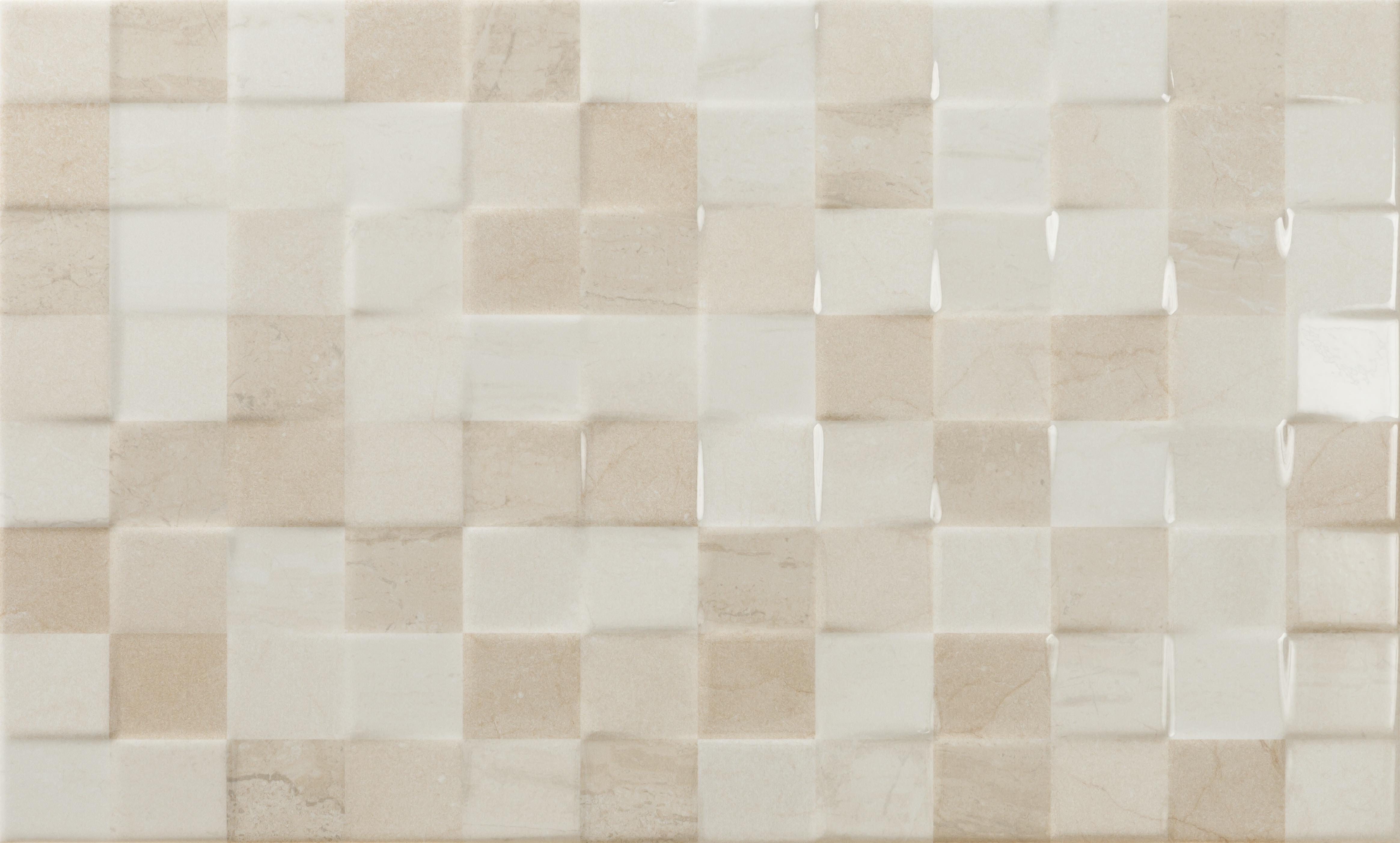 Faianță pentru baie Ecoceramic Aspen Relief Milano 333x550 texturată și lucioasă bej / 10