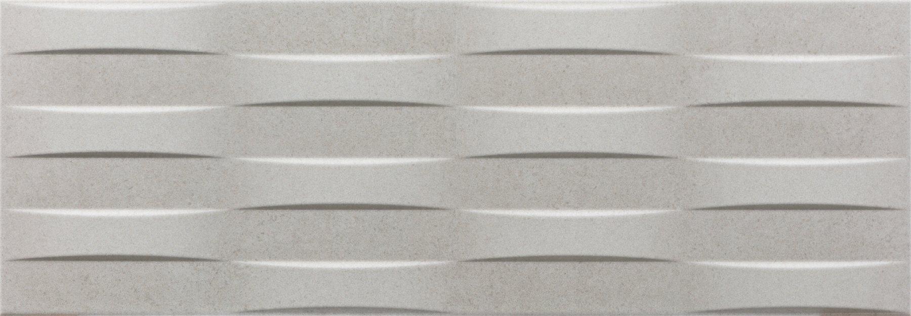 Faianță pentru baie Navarti Rodano Relief Odra Perla 250x700 texturată și satin gri / 9